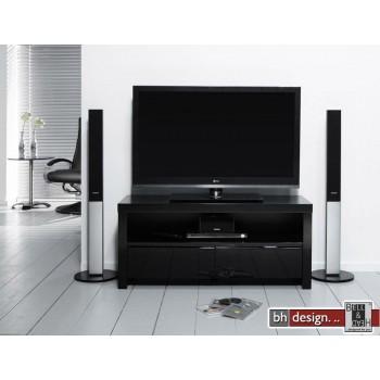 Silas Fernsehschrank Hochglanz schwarz oder weiss wählbar 110 x 40 cm (Extreme Gloss)