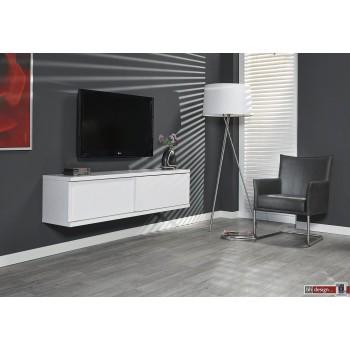 Diffuso Hängeboard / TV Tisch 160  x 42 cm in verschiedenen Farben  matt lackiert