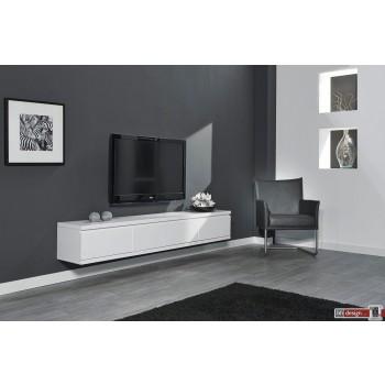 Diffuso Hängeboard / TV Tisch 200  x 35 cm weiss matt lackiert