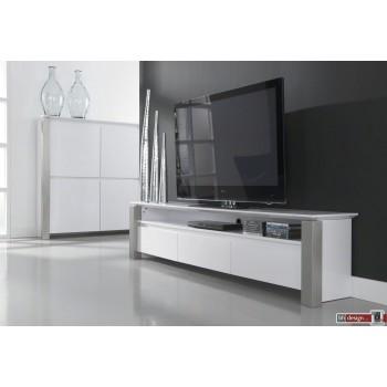 Carla TV-Bord  Hochglanz  weiss 160 x 50 cm, alternativ 210 x 50 cm (Extreme Gloss)