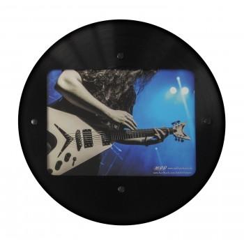 Runder LP Bilder-Rahmen aus echter Vinyl-Schallplatte mit Bildausschnitt 15,5 x 21,5 cm