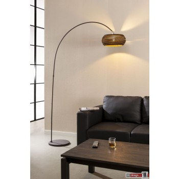 Nature Line Bogenlampe  mit Karton Lampenschirm  200 x 100 cm