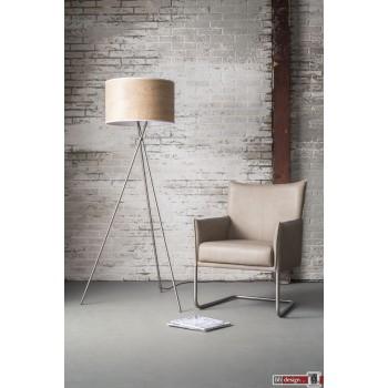 Oak Line Stehlampe mit 3 Fuß Gestell und Eichenschirm  H 167 x 50 cm