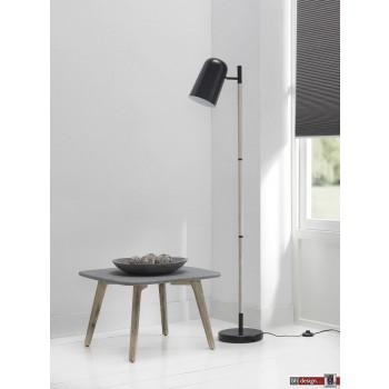 Studio Line Strahler mit Holzgestell und Melattschirm  schwarz  H 150 x 40 cm