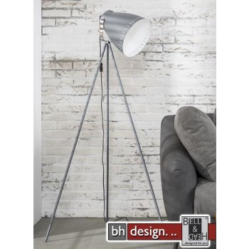 Studio Line Stehlampe schwenkbar mit Stahllampenschirm grau 60 x 60 x 163 cm