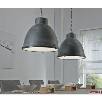 Industrie Line Hängelampe 2-er Set  Metall Grau 125 x  H 150 cm