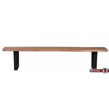 Baumstamm Sitzbank Akazienholz  massiv 150 cm