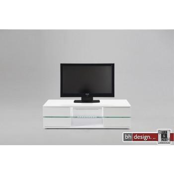 Bianca TV-Tisch hochglanz weiss 120 x 42 cm mit LED-Beleuchtung