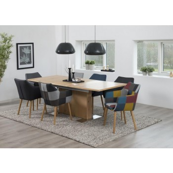 Brühl Säulentisch ausziehbar Wildeiche 160/210cm