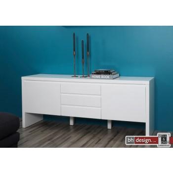 Bronx Anrichte 2 Türen, 3 Schubladen 170 x 75  x 45 cm Hochglanz weiß
