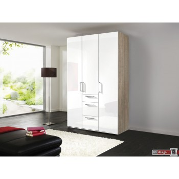 Express Möbel Drehtürenschrank Brooklyn, hochglanz und Schubladen, Höhe 216 cm oder Höhe 236 cm