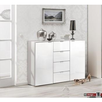 Express Möbel Kommode Carina , 2 Türen 4 Schubkästen, verschiedene Farbvarianten B 140 cm x H 80 cm