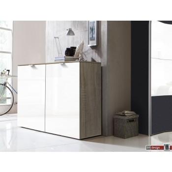 Express Möbel Kommode Carina , 2 Türen, Front hochglanz weiss, B 100 cm x H 80 cm
