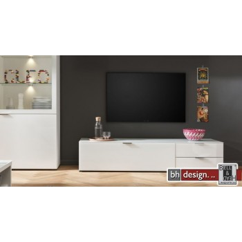 CS Schmal Medienelement Cleo, 163 x 34 cm, 1 Klappe, 2 Schubkästen in  verschiedenen Farben