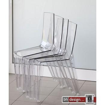 Design Stuhl Ice Transparent und stapelbar