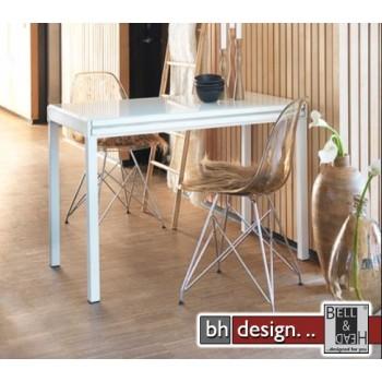 Lissabon  Esstisch by Canett Design  Weiss/ Weissglas 55/110 cm