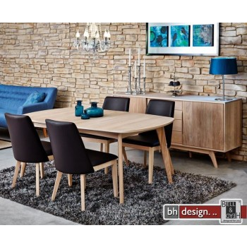 marte b esstisch eiche echtholzfurnier 180 270 x 100 cm ausziehbar skandinavischer stil powered. Black Bedroom Furniture Sets. Home Design Ideas