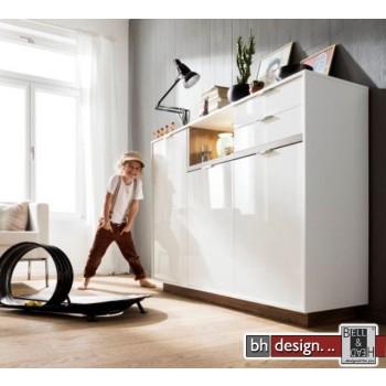 CS Schmal Sideboard My Ell, 3 Türen,2 Schubkästen 157 x 114 cm, verschiedene Farben