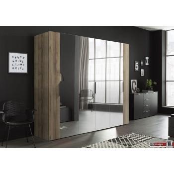 Express Möbel  Drehtürenschrank NAVAJO, diverse Größen,  Spiegelfront  mit Absetzung, Höhe  216 cm