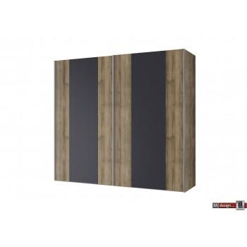 Express Möbel Schwebetürenschrank NAVAJO, diverse Größen, Glasfront mit Absetzung, Höhe  216 cm