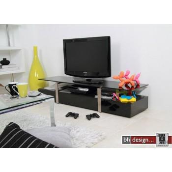 Plasmas TV-Tisch hochglanz schwarz