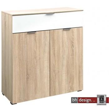 CS Schmal Kommode  Solo 600, 2 Türen, 1 Schubkasten 91 x 100 cm, verschiedene Varianten