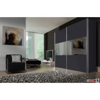 Express Möbel Schwebetürenschrank Stars mit Glaseinsätzen, 150 cm bis 300 cm , Höhe 216 cm oder Höhe 236 cm