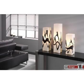 Tischleuchte Table Lounge 2 aus Glas und Sicherheitsglas,