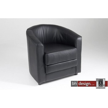 Tub Designclubsessel schwarz drehbar