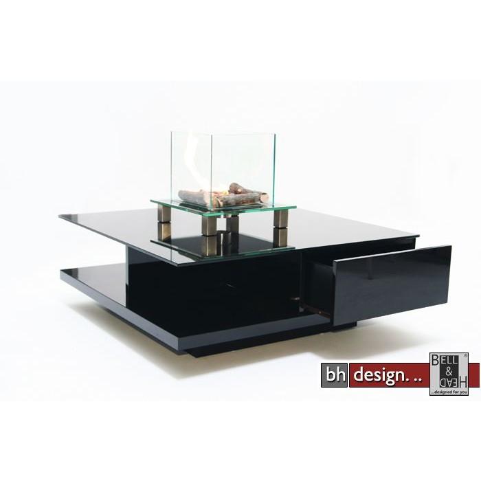Design Couchtisch Schwarz  Schwarzglas 100cm NEU  eBay