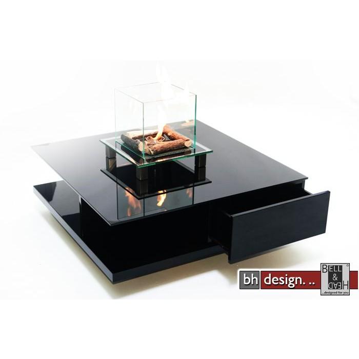 Design Couchtisch Hermino Mit Glasplatte In Nierenform