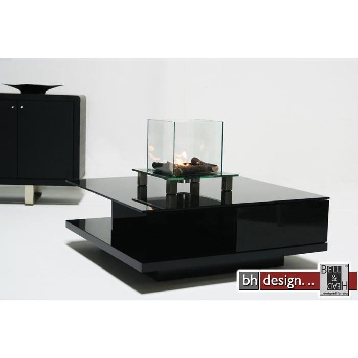 design couchtisch schwarz hochglanz schwarzglas 100cm ebay. Black Bedroom Furniture Sets. Home Design Ideas