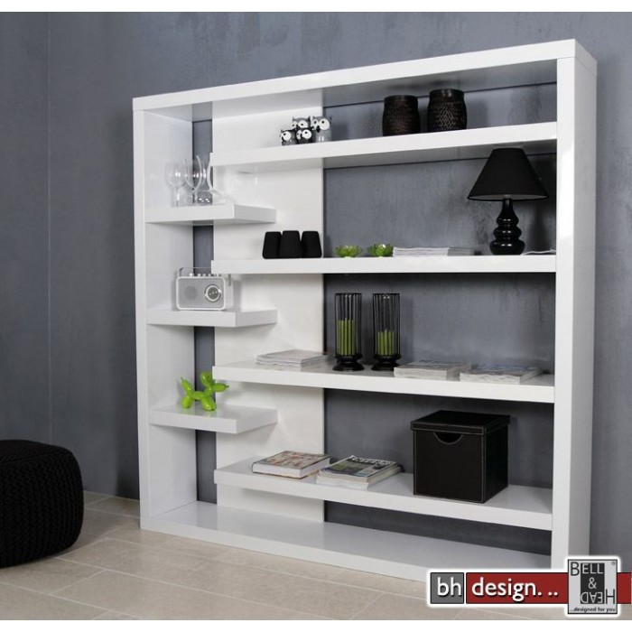 design regal raumteiler hochglanz weiss 200 x 200 cm ebay. Black Bedroom Furniture Sets. Home Design Ideas