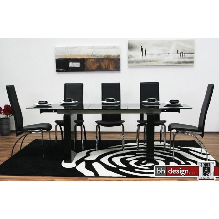 Design esstisch ausziehbar 165 215 cm marmor glas neu ebay for Marmor couchtisch neu