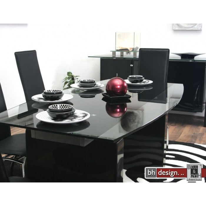 design esstisch ausziehbar 165 215 cm marmor glas neu ebay. Black Bedroom Furniture Sets. Home Design Ideas