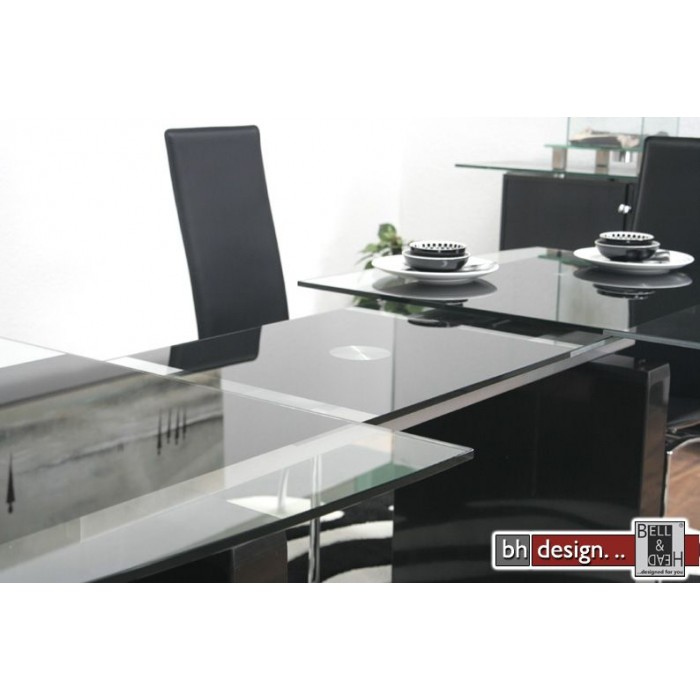 design esstisch ausziehbar 165 215 cm marmor glas neu ebay. Black Bedroom Furniture Sets. Home Design Ideas