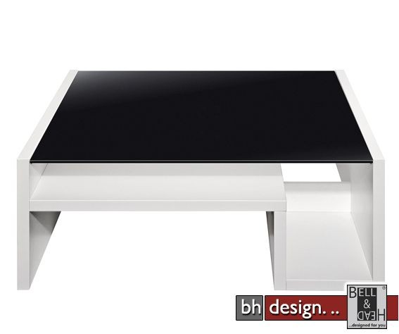 arte m couchtisch game weiss schwarzglas 90 cm x 90 cm powered by bell head preiswerte. Black Bedroom Furniture Sets. Home Design Ideas