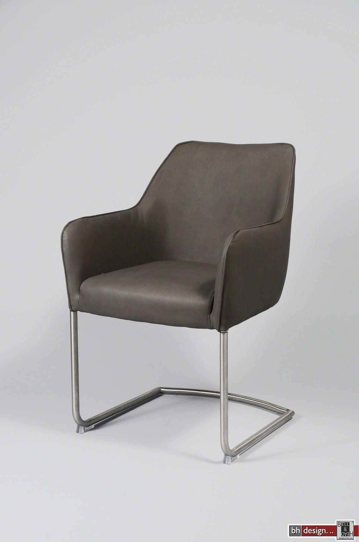 Freischwinger Stühle Mit Armlehne clubchair freischwingerstuhl mit armlehnen und edelstahlbeinen in