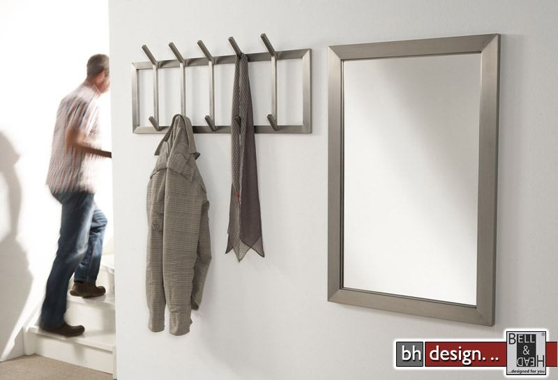 Carry line garderobe aus edelstahl 36 x 90 cm designm bel for Garderobe line