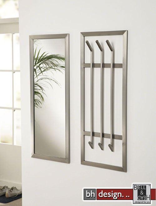 carry line garderobe hoch mit 4 haken und spiegel hochglanz weiss 100 x 80 cm powered by bell. Black Bedroom Furniture Sets. Home Design Ideas