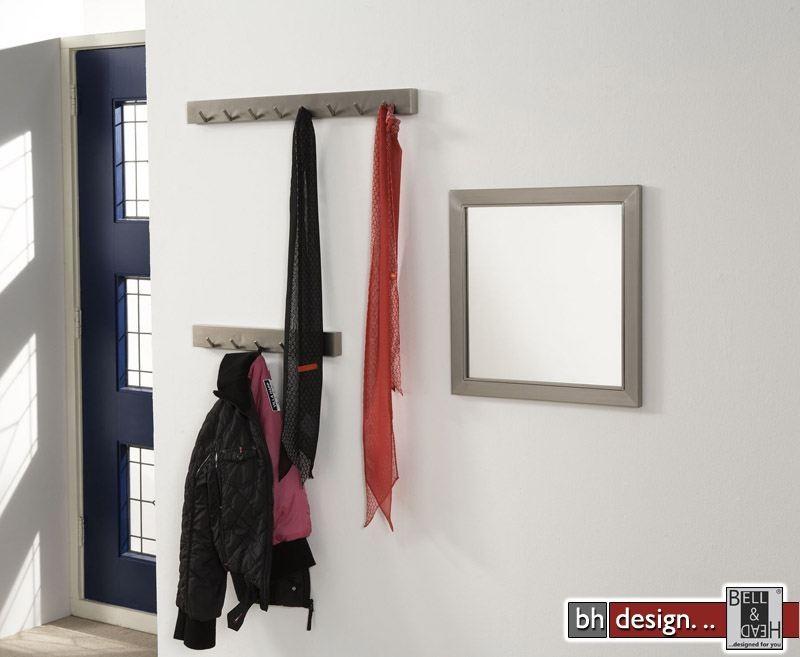 Carry line garderobe mit 6 oder 8 haken aus edelstahl 5 x for Garderobe line