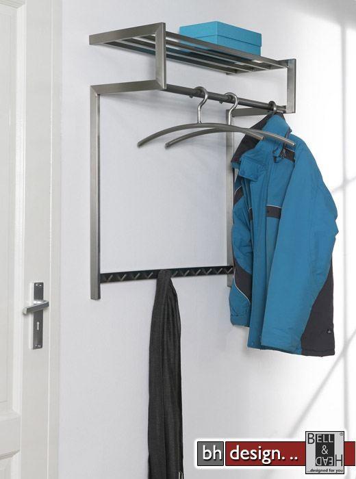 Carry line garderobe aus edelstahl mit hutablage 85 x 80 for Garderobe line