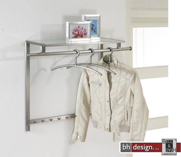 Carry line garderobe aus edelstahl mit hutablage 90 x 70 for Garderobe line