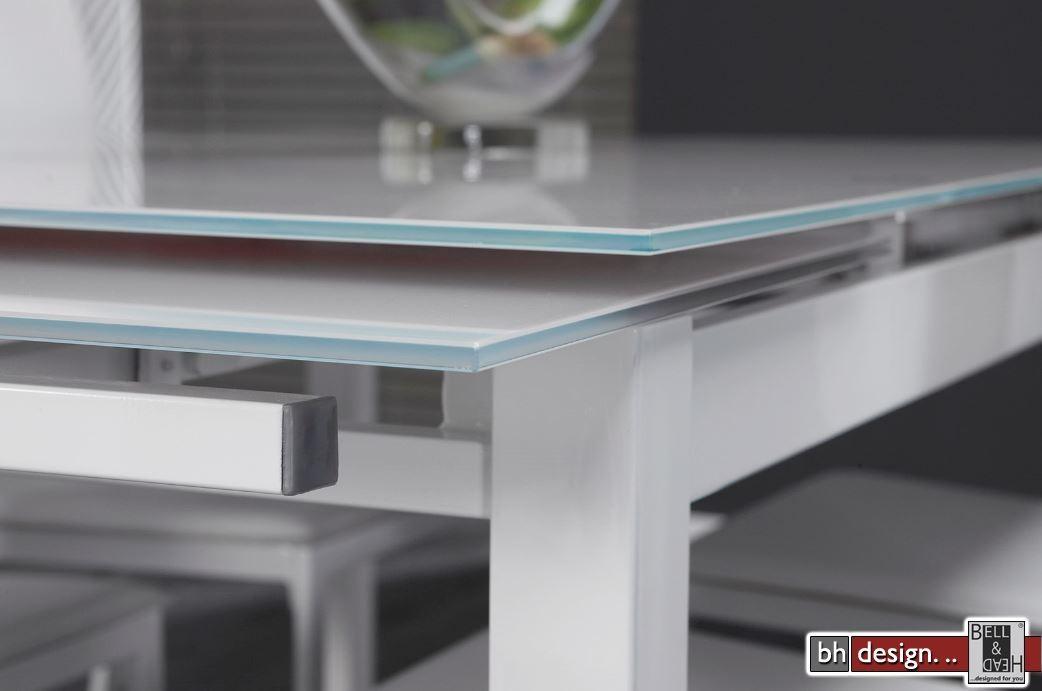 Esstisch wei glas ausziehbar com forafrica - Ausziehbarer esstisch glas ...