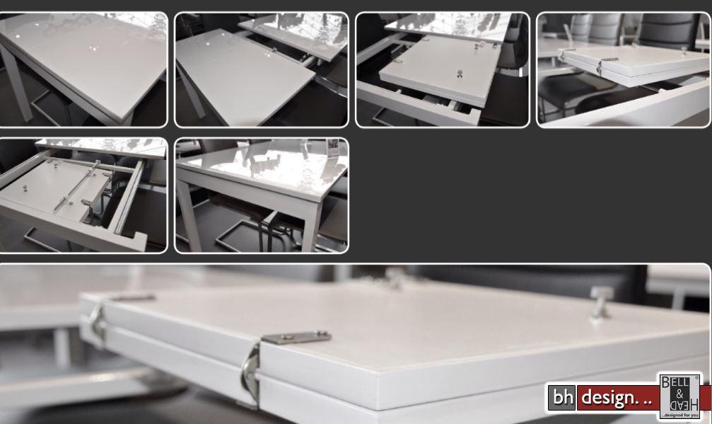 Esstisch weis hochglanz ausziehbar 120 esstisch panos cm for Esstisch 120 cm ausziehbar