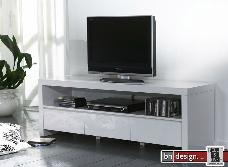 silas tv tisch hochglanz schwarz weiss extrem gloss mit. Black Bedroom Furniture Sets. Home Design Ideas