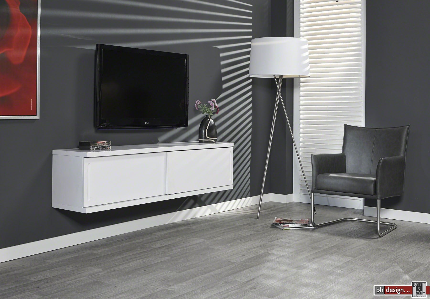 diffuso h ngeboard tv tisch 160 x 42 cm in verschiedenen. Black Bedroom Furniture Sets. Home Design Ideas