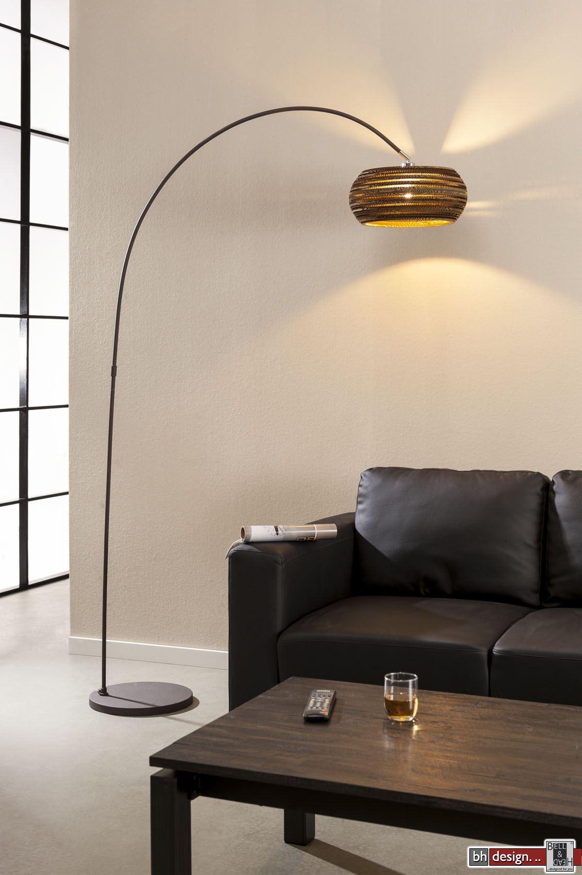 nature line bogenlampe mit karton lampenschirm 200 x 100. Black Bedroom Furniture Sets. Home Design Ideas