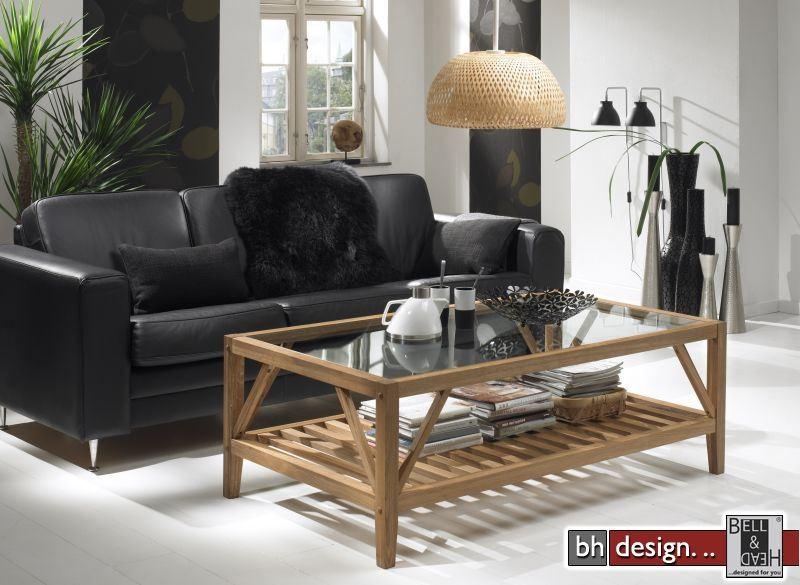 Couchtisch Eiche Rustikal Mit Glas ~ Design Eiche  Camilla Couchtisch by Canett Design Eiche massiv mit