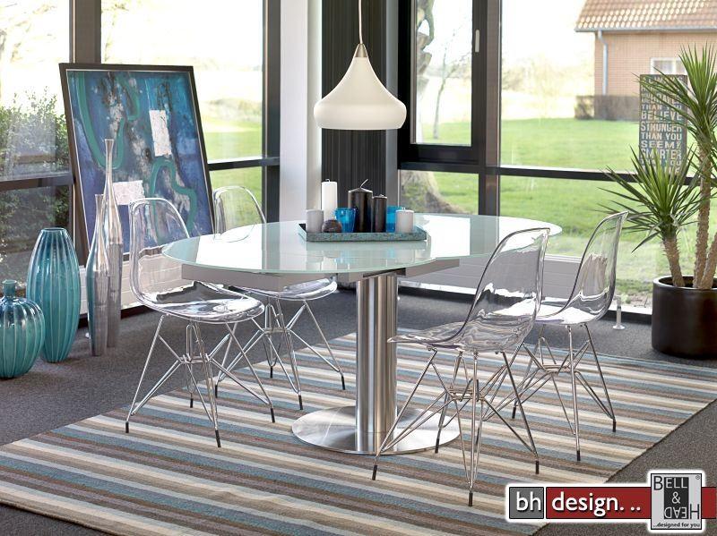 Design tisch rund ausziehbar neuesten for Design tisch 60er
